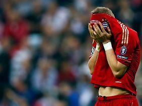 Untröstlich: Bayern-Star Bastian Schweinsteiger nach dem verlorenen Champions-League-Finale.