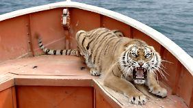 Der digital erzeugte Tiger ist so lebensecht, dass man nicht sagen kann, ob das Bild einen Spezialeffekt zeigt oder ein lebendiges Tier.