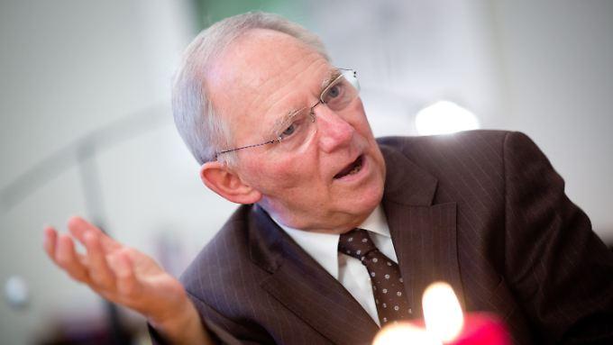 Gute Aussichten für 2013 sagt Schäuble voraus.