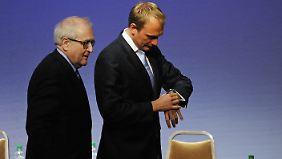 Im Allgemeinen war erwartet worden, dass Brüderle (l.) und Lindner die Wahlkampfspitze für Herbst stellen.