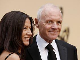 Anthony Hopkins und seine Frau Stella 2009 in Los Angeles bei der Oscarverleihung.