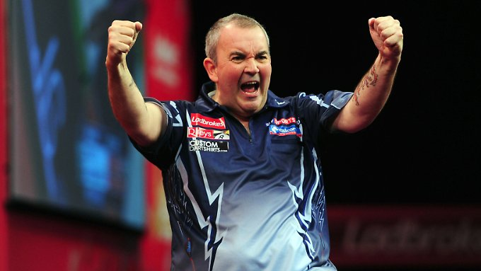 Im Finale: Darts-Legende Phil Taylor.