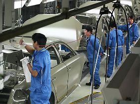 Produktion im Volkswagen-Werk in Nanjing.
