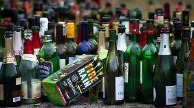 Alkohol war an Silvester auch reichlich im Spiel.