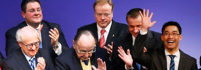 Die Führung der FDP darf noch einmal Applaus einheimsen.