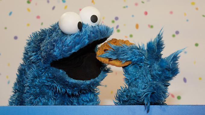 """Das """"original"""" Krümelmonster Cookie - natürlich mit einem Keks."""