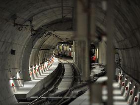 Neue Station, neue Probleme: Ein Teil des Tunnels.