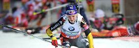 Neun Fahrtkarten sind zuviel: Biathlon-Staffel verpasst Podest