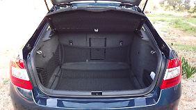 Mit 590 Liter Kofferraumvolumen ist der Octavia in seiner Klasse der Primus.