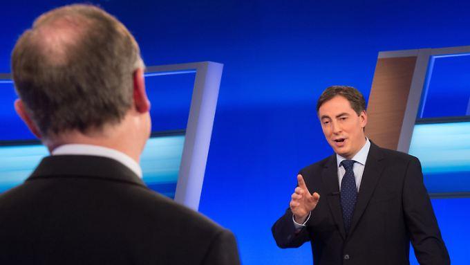 Stephan Weil (l.) und David McAllister bei ihrer einzigen direkten Konfrontation im Wahlkampf.
