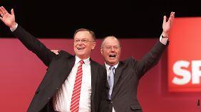 Steinbrück verspricht sich von einem Sieg in Niedersachsen neue Impulse für seinen Bundestagswahlkampf.