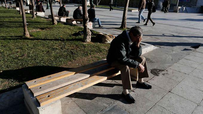 Am Syntagma-Platz in Athen. Die Arbeitslosigkeit in Griechenland liegt bei 27 Prozent.