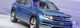 Mit fünf Meter Länge ist die Studie Cross Blue länger als der VW Touareg.
