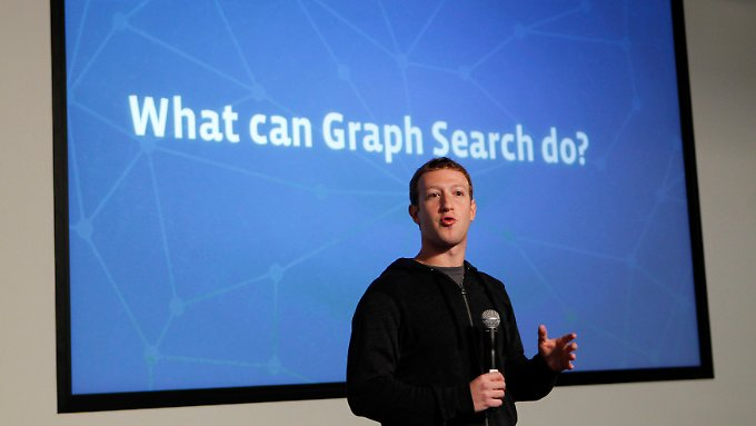 Mark Zuckerberg bei der Vorstellung von Graph Search.