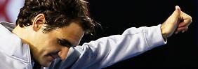 """""""Ich bin sehr glücklich, wie ich bislang spiele"""": Roger Federer."""