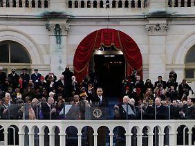 Die Wahrheit von 1776: Barack Obama auf der großen Festtribüne in Washington.