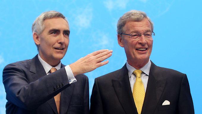Siemens-Chef Lösche (l.) und Aufsichtsratschef Cromme stehen seit Monaten in der Kritik.