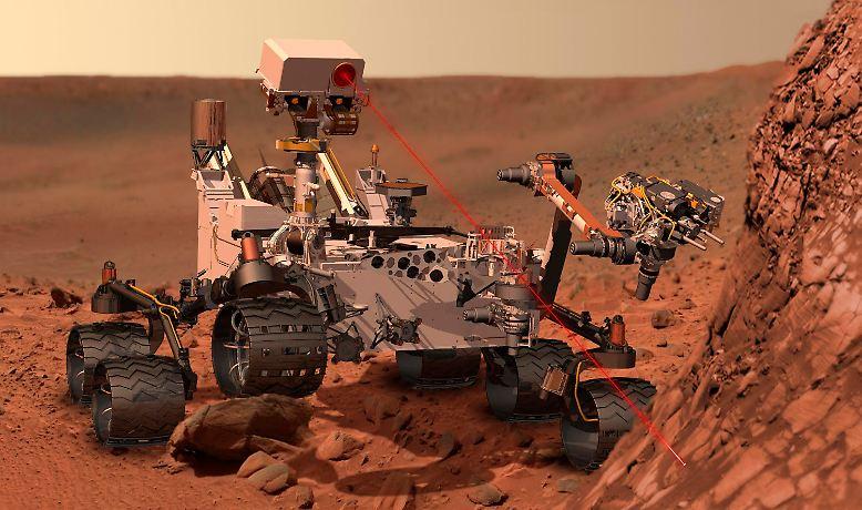 """Die Welt schaut auf """"Curiosity"""" und die spektakulären Bilder, die ..."""