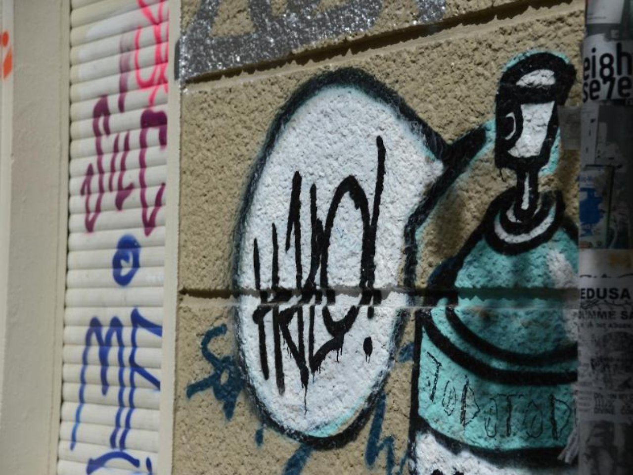 wohnmangel oder nicht wann graffiti die miete mindern n. Black Bedroom Furniture Sets. Home Design Ideas