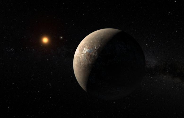 """So könnte sie aussehen: die """"zweite Erde"""". Ein Kandidat ist der erst im Sommer 2016 entdeckte Planet um unseren Nachbarstern im All - Proxima Centauri. Auf der Oberfläche von ..."""