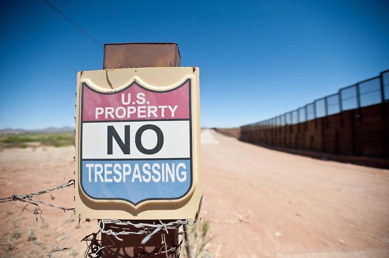 """""""Wir befinden uns inmitten einer Krise an unserer südlichen Grenze"""", sagte US-Präsident Trump. Die """"beispiellose Zunahme"""" der Zahl der Zuwanderer aus Zentralamerika schade nicht nur den USA, sondern auch Mexiko."""
