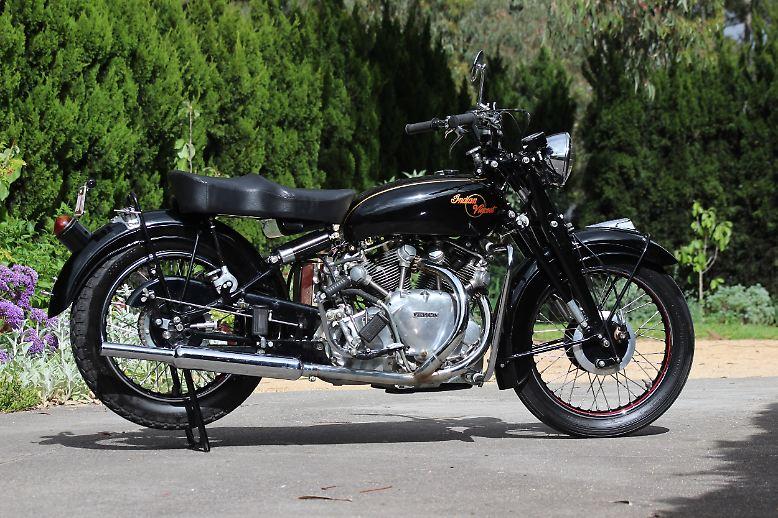 Die erste große Motorrad-Auktion des Jahres 2017 in Las Vegas verlief nicht in allen Punkten wie geplant. Mindestens eine Viertelmillion Dollar sollte dieser Indian-Vincent-Prototyp von 1949 bringen, tat er dann aber nicht. Obgleich es sich um ein absolutes Unikat handelt.