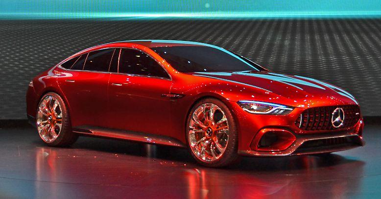 Auf dem Autosalon in Genf gehört das Mercedes-AMG GT Concept mit Abstand zu den schönsten Autos der Messe.