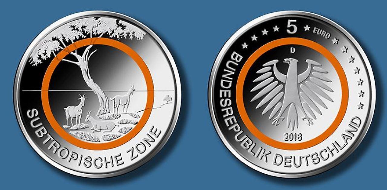 5 Euro Münze 2017 Spiegelglanz Wert Ausreise Info