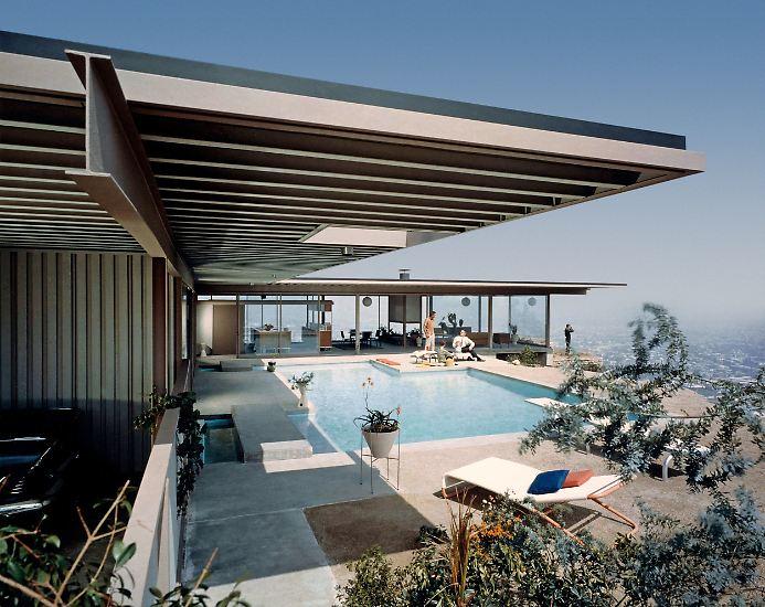 Die 1950er- und 1960er-Jahre waren vom Aufbruch in die Zukunft geprägt - auch in der Architektur. (Bild: Stahl House in den Hollywood Hills LA, 1957 fertiggestellt)