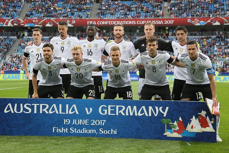 Sieg gegen Australien: Das unerfahrene deutsche Perspektivteam startet erfolgreich in den Confed Cup.
