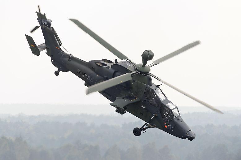 """Bei dem Absturz eines Bundeswehrhubschraubers  vom Typ """"Tiger"""" in Mali sind beide Besatzungsmitglieder ums Leben gekommen."""