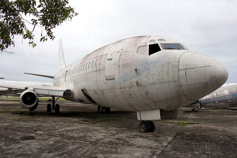 """40 Jahre nach ihrer Entführung kehrt die Lufthansa-Maschine """"Landshut"""" nach Deutschland zurück."""