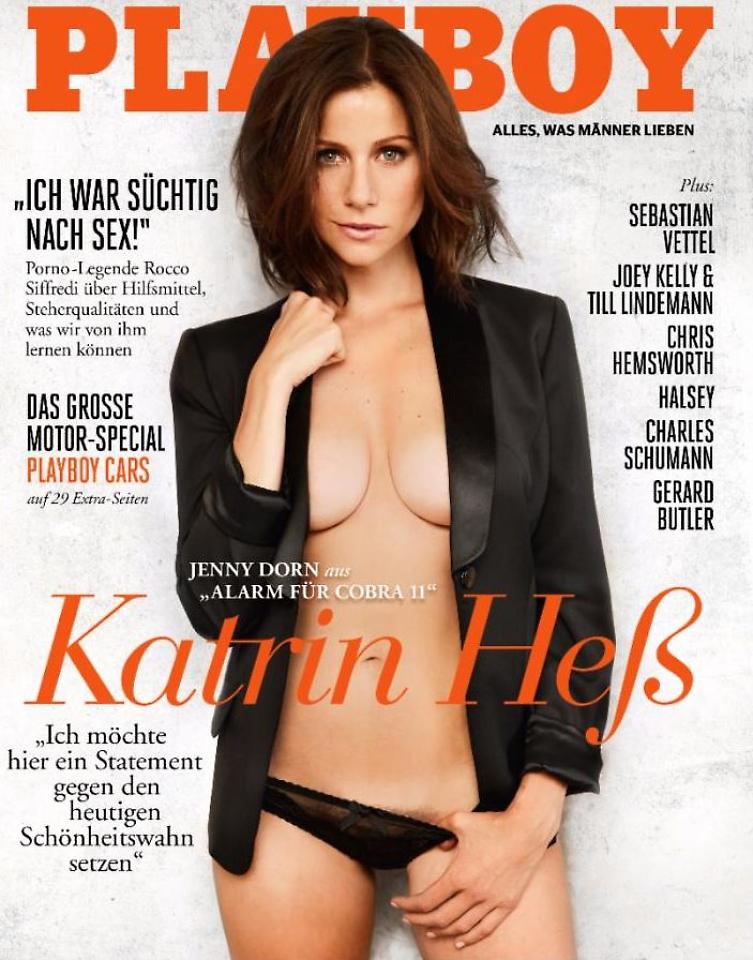 Alarm für Cobra 11: Katrin Heß plädiert nackt für Schamhaar im Playboy!