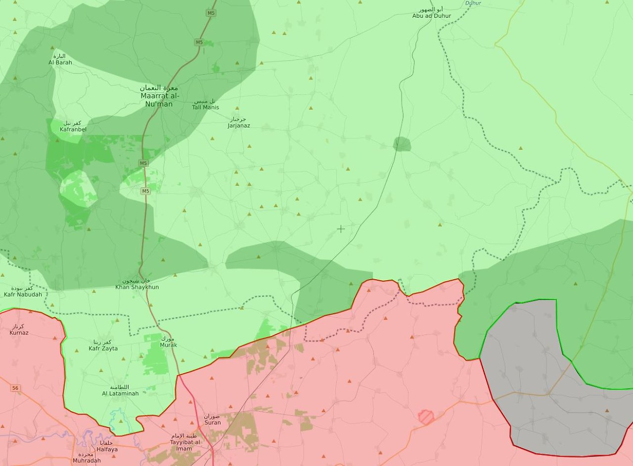 Die Ungefähre Situation Nach Weihnachten 2017: Innerhalb Des Ausschnittes  Halten Gemäßigte Rebellen (hellgrün)