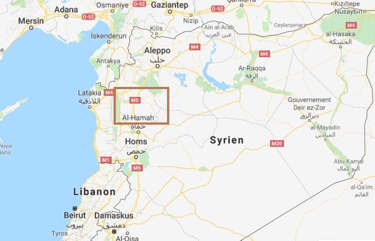 Einen Teil Der Provinz Idlib Zeigt Das Rote Rechteck Auf Dieser Karte.