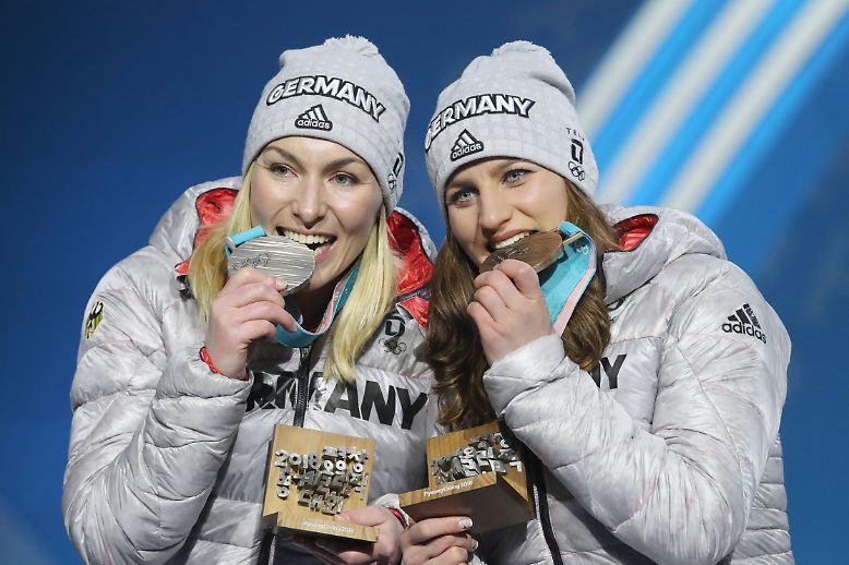 Der 15. Wettkampfmorgen der Olympischen Spiele von Pyeongchang glänzt aus deutscher Sicht silbern und bronze.