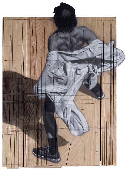 """Ein höflicher Gigant sei ihr da begegnet, schreibt Yasha Young, Kuratorin des """"Urban Nation Museum for Urban Contemporary Art"""" in Berlin, im Vorwort zum Katalog der Ausstellung """"Canvas"""" von Anders Gjennestad."""