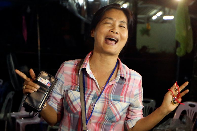 Freude und Erleichterung in Thailand.