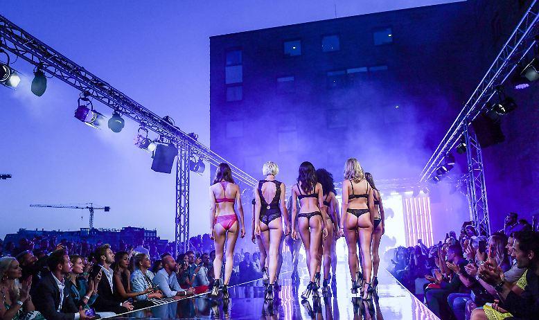 Zu Lascana lockten die überwiegend schönen Aussichten das Fashion-Volk ins nhow Hotel an der Spree.