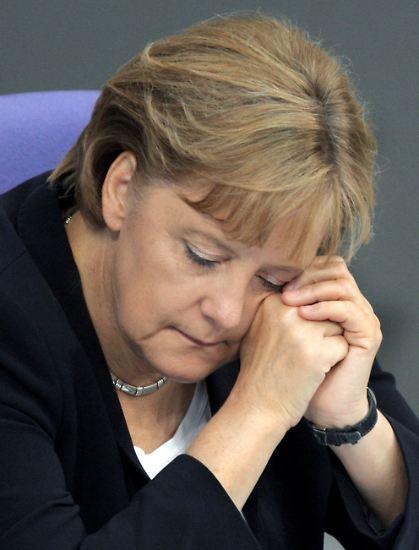 Hallo, Sie da! Frau Merkel!