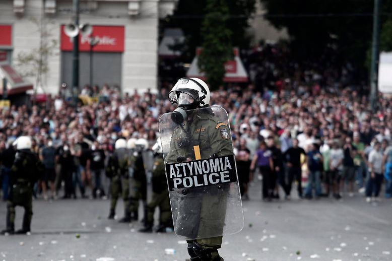Das Regierungszentrum in Athen ist hermetisch abgeriegelt.
