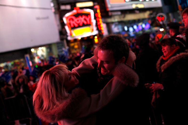 Rund eine Million Menschen kamen auf dem Times Square zusammen.