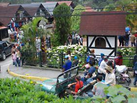 An den Wochenenden wird die Kolonie von Touristen überströmt.