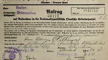 """""""Treuer Gefolgsmann des Führers"""": Filbinger war in der NSDAP"""