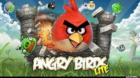 Angry Birds füllt das große Display problemlos aus.