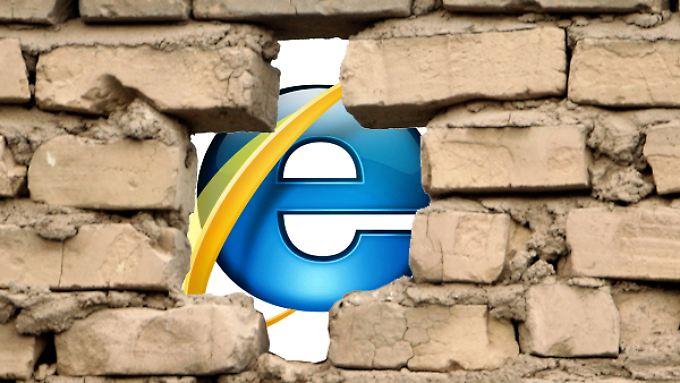Im Internet Explorer klafft eine kritische Sicherheitslücke.