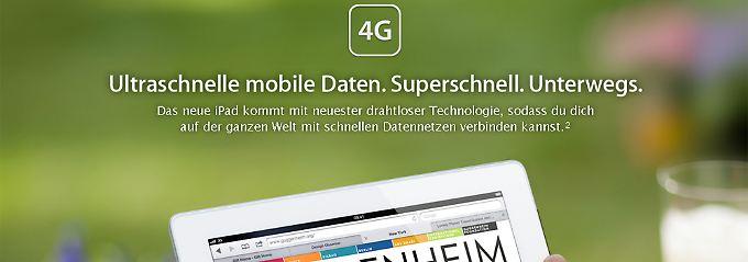 """Das """"4G"""" hat auf der deutschen iPad-Seite eigentlich nichts zu suchen."""