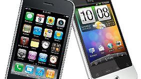 Apple und Google sind erbitterte Smartphone-Rivalen.