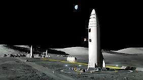 Wird sich die Menschheit in wenigen Jahren auch auf dem Mond niederlassen?